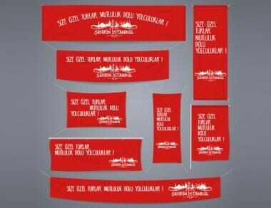 Şehrin İstanbul Kurumsal Kimlik Afis Poster Bayrak Çalışması